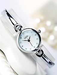 Women's Fashion Watch Water Resistant / Water Proof Quartz Alloy Band Cool Casual Luxury Silver