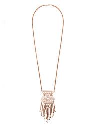 Women's Strands Necklaces Geometric Chrome Unique Design Fashion Gold Jewelry For Wedding Congratulations 1pc
