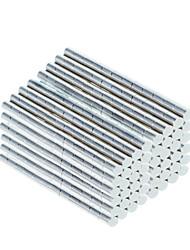 DIY 3*3mm Cylindrical Neodymium NdFeB Magnet(500PCS) Silver