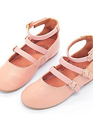 Girls' Flats Gladiator Cowhide Casual Flat Heel