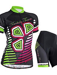 Nuckily Cycling Jersey with Shorts Women's Short Sleeves Bike Jersey Shorts Clothing Suits Waterproof Ultraviolet Resistant Moisture