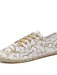 Men's Sneakers Spring Summer Comfort Light Soles Canvas Outdoor Casual Flat Heel Lace-up Walking Shoes