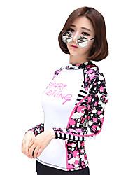 SBART® Mulheres Camisa de Mergulho Secagem Rápida Elastano Náilon Chinês Fato de Mergulho Manga Comprida Blusas-Mergulho Snorkeling