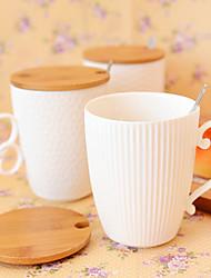 Minimalisme Bar Articles pour boire, 420 ml Conception Ergonomique Céramique Café Lait Verres & Tasses Pour Usage Quotidien
