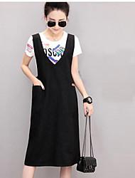 2017 jambe européenne de la nouvelle grande taille femme longue section de la robe en jean doux robe marée féminine