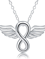 Angel Wings Statement Necklaces Jewelry Daily Band Fashion Silver Plated 1pc Gift Silver