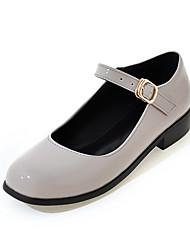 Women's Heels Summer Fall Club Shoes PU Office & Career Party & Evening Dress Low Heel Buckle