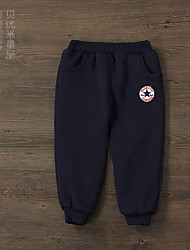 Boys' Sports Solid Pants-Cotton Winter