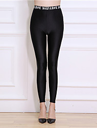 Women Nylon Thin Solid Color Legging,Solid This Style is TRUE to SIZE.