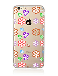 For Transparent Pattern Case Back Cover Case Flower Soft TPU for Apple iPhone 7 Plus iPhone 7 iPhone 6s Plus/6 Plus iPhone 6s/6 iPhone
