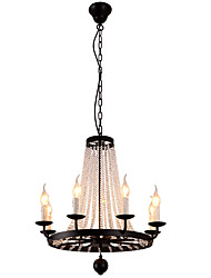 LightMyself 8 Lights Chandelier Modern/Contemporary Traditional/Classic Rustic/Lodge Tiffany Vintage Retro Lantern Drum Country Island Globe Bowl