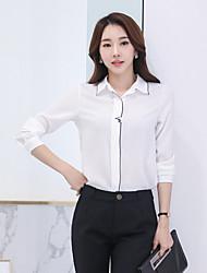 Camisa 2017 do chiffon do ol do viajante de bilhete mensal das mulheres novas da mola bordou a camisa bordada do estilo da blusa