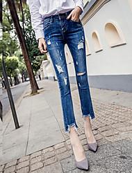 Весна и лето растянуть гигантское отверстие было тонкой микро спикер джинсы женщины широкие брюки ногу прилива кисти шелуха
