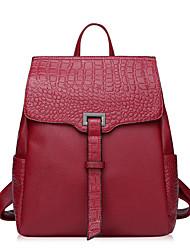 Frauen beiläufige Beutel echtes Leder eleganter Rucksack mehr Farben