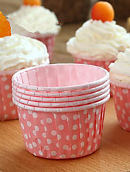100 Pcs Cupcake Liner Baking Cup Cupcake Paper Muffin Cases Cake Box Cup Egg Tarts Tray Cake Mold Decorating Tools Random color