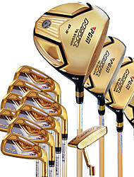 Golf Clubs Golf Sets Golden Color For Beginners Golf Durable Case Included Alloy