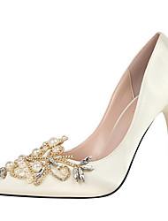 Women's Heels Spring Summer Fall Winter Club Shoes Comfort Fabric Office & Career Party & Evening Dress Stiletto HeelRhinestone Beading