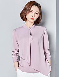 Sinal 2017 nova camisa de chiffon colar metros grandes retro coreano camisa de chiffon de mangas compridas