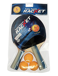 3 Stars Ping Pang/Table Tennis Rackets Ping Pang Rubber Long Handle Raw Rubber 2 Rackets 3 Table Tennis BallsIndoor Performance Practise