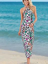 2016 amazone aliexpress nouvelle imprimé léopard sexy licol robe de plage