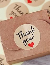 10sheet / 120pcs papier kraft vous remercient des étiquettes de cadeau faveurs de mariage accessoires de fête de Noël mariage bricolage