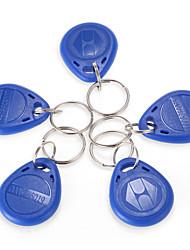 RFID 125KHz proximidade cartão de identificação marcas simbólicas Keyfobs porta-chaves azul cadeia