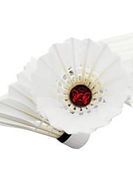 12pcs Badminton Volants de plumes Durable Stabilité pour Intérieur Extérieur Utilisation Exercice Sport de détente Plume de canard