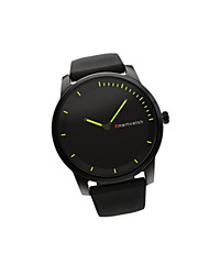 Masculino Relógio Inteligente Relógio de Moda Chinês Quartzo Couro Banda Casual Preta Marrom Preto Prata