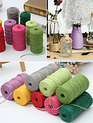 100g Multicolor Christmas Hemp Jute Rope Cord Marline for Wedding Favors Candy Boxes DIY Crafts Decor (Size 1)