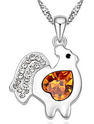 Women's Pendant Necklaces Crystal Animal Shape Chrome Animal Design Jewelry For Gift Casual 1pc