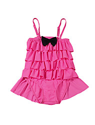 Girls Bow One-Pieces Swimsuit Baby Kids Cap Swimwear Cake Skirt Swimming Clothing Girl Bikini Clothes