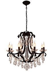 LightMyself 8 Lights Crystal Chandelier Modern/Contemporary Traditional/Classic Rustic/Lodge Tiffany Vintage Retro Lantern Drum Country Painting