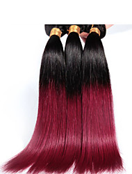 Mix length 12-26inch 1b/530# Ombre Brazilian Virgin Hair Straight