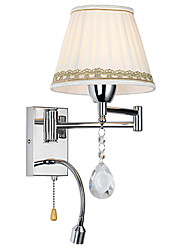 LightMyself Modern/Contemporary Rustic/Lodge Modern/Comtemporary Country Chrome Feature for Crystal Swing Arm Wall Lamp