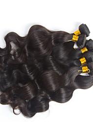 3 peças / lote cabelo onda do corpo brasileiro, 100% umprocessed cabelo humano virgem, nenhum derramamento, sem extensão do cabelo