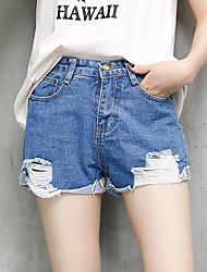 signer le printemps et l'été nouvelle version coréenne du curling taille trou mastiquer short en jean femme