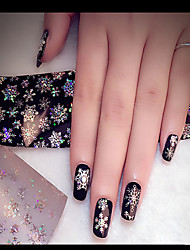 1PC The Stars Stick Transfer Printing Applique Iridescence Snow Nail Stick Bottled 4cm*120cm