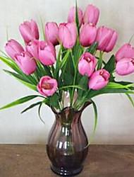 1 Une succursale Fibre Tulipes Fleur de Table Fleurs artificielles 20*20*31