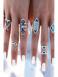MPL Europe and the United States fashion 8 sets of alloy rings
