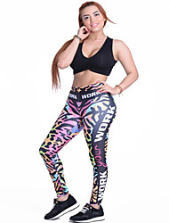 Femme Course / Running Leggings Bas Respirable Printemps Yoga Polyester Mince Vêtements de Plein Air Athleisure Classique