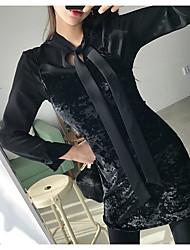 Robe de harnais de velours sexy slim sexy en Corée du printemps