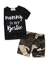 Boy Kids Sets Cotton Camouflage Baby Summer T-shirt Short Sleeve Clothing shorts Set
