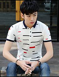 Männer&# 39; s Kurzarm-T-Shirt Revers der koreanischen dünnen Männer&# 39; s Sommer Jugend Trend Polo-Shirt Druck von