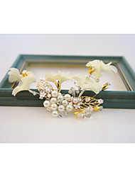 Pearl Alloy Chiffon Headpiece-Wedding Special Occasion Outdoor Flowers 1 Piece