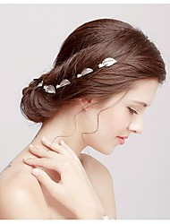 Alloy Headpiece-Wedding Special Occasion Casual Flowers Hair Clip Hair Pin Hair Tool 6 Pieces