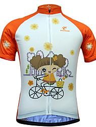 JESOCYCLING Maglia da ciclismo Per donna Manica corta Bicicletta Maglietta/Maglia Asciugatura rapida Resistente ai raggi UV Zip anteriore