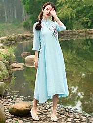 signe 2017 printemps et robe rétro vent d'été national pilotes femmes cheongsam robe de style chinois brodé