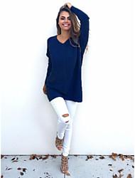 aliexpress Explosion Modelle Herbst und Winter 2016 europäische und amerikanische Mode Frauen&# 39; s V-Ausschnitt Pullover mit langen