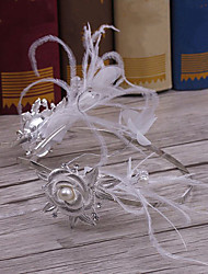 Feather Alloy Headpiece-Wedding Special Occasion Casual Tiaras Headbands 1 Piece