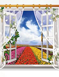Florals Wall Stickers 3D Wall Stickers Decorative Wall Stickers,Vinyl Material Home Decoration Wall Decal